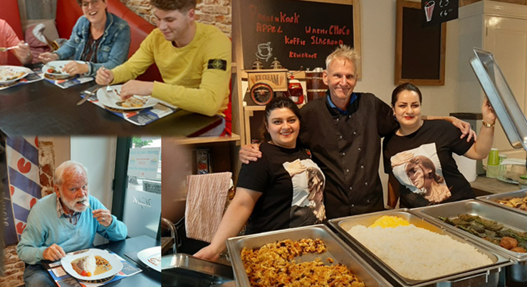 op zaterdag Iraans eten afhalen bij Willem de Ijskoning